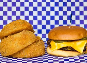 Double Cheeseburger Love with Onion Rings